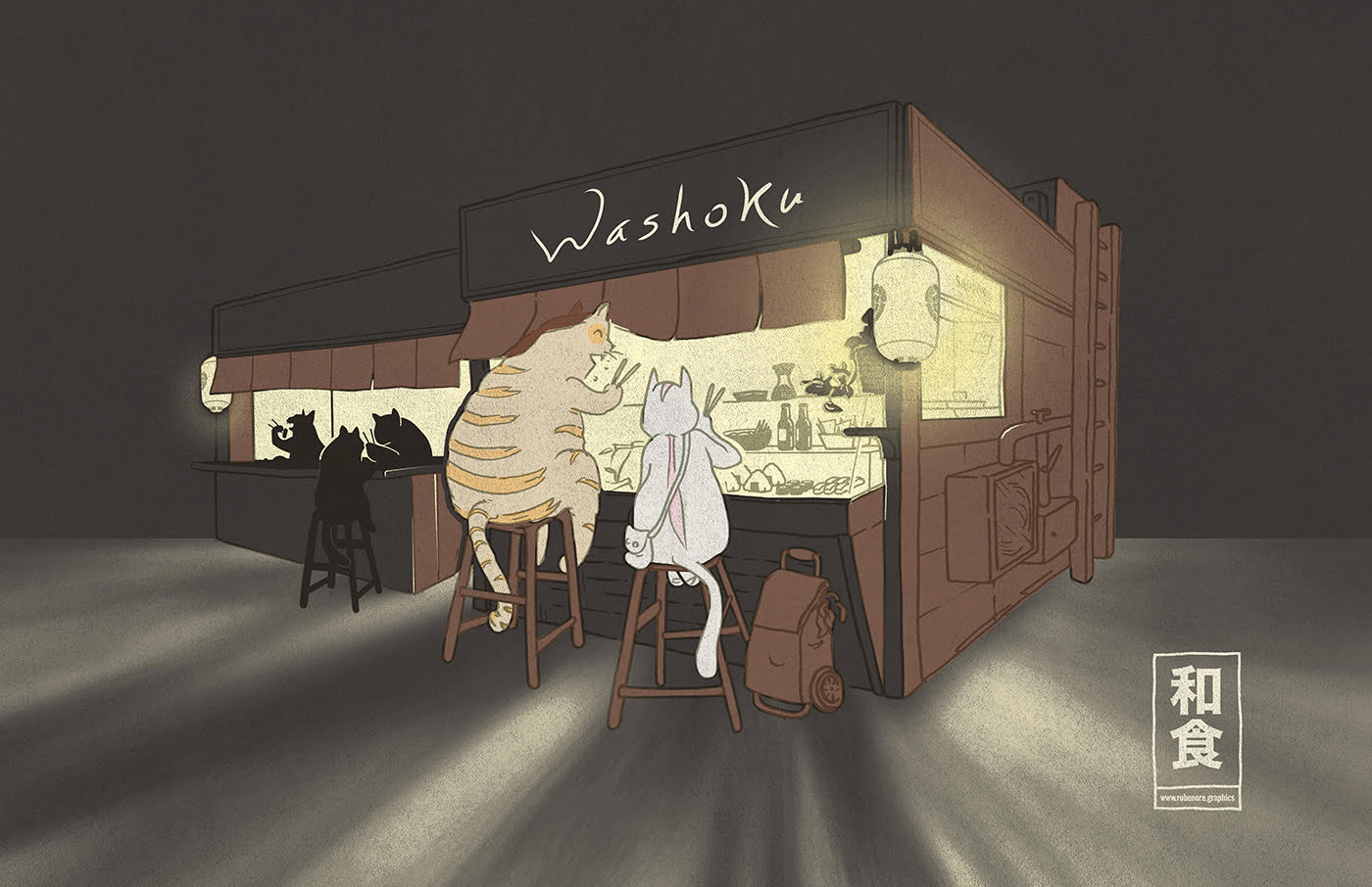 ilustraccion washoku robenore.graphics