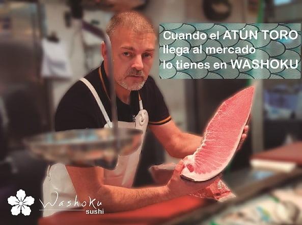 atun toro en Washoku sushi en Madrid